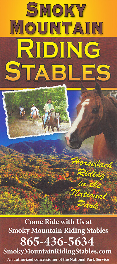 Smoky Mountain Riding Stables Brochure Cover