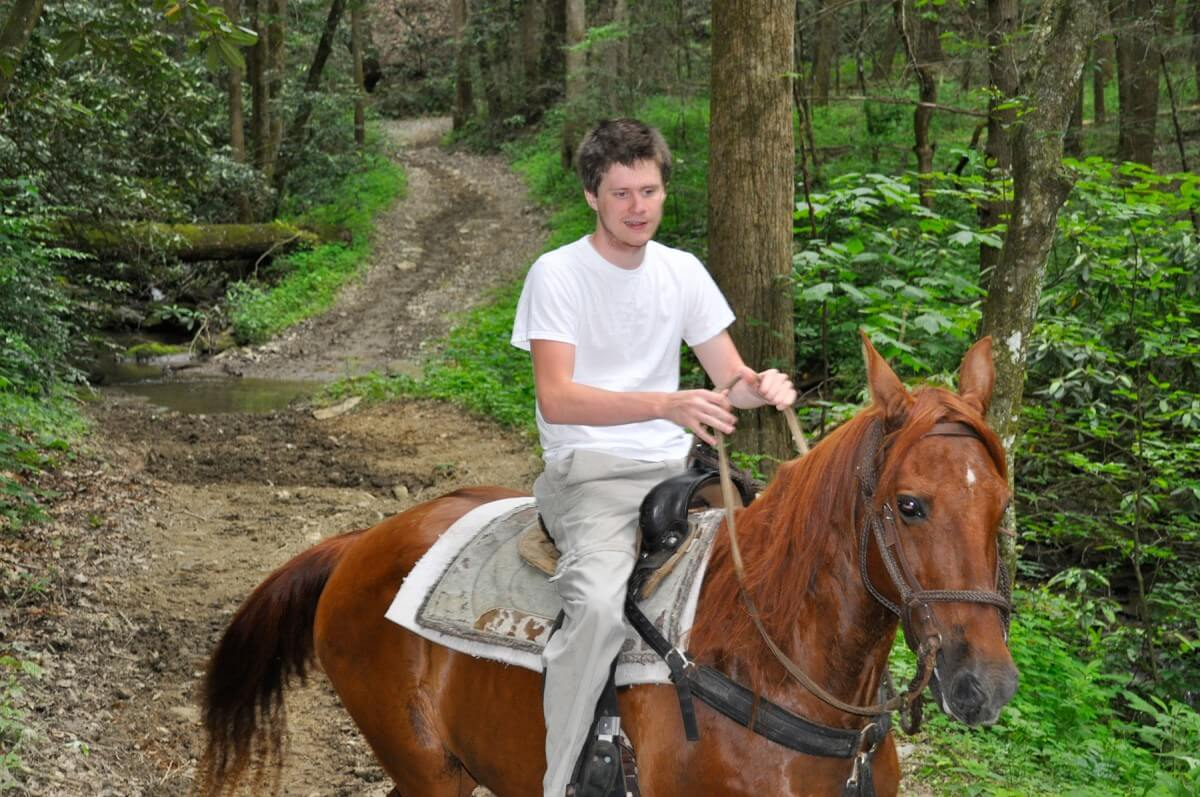 Smoky Mountain Riding Stables Man Riding