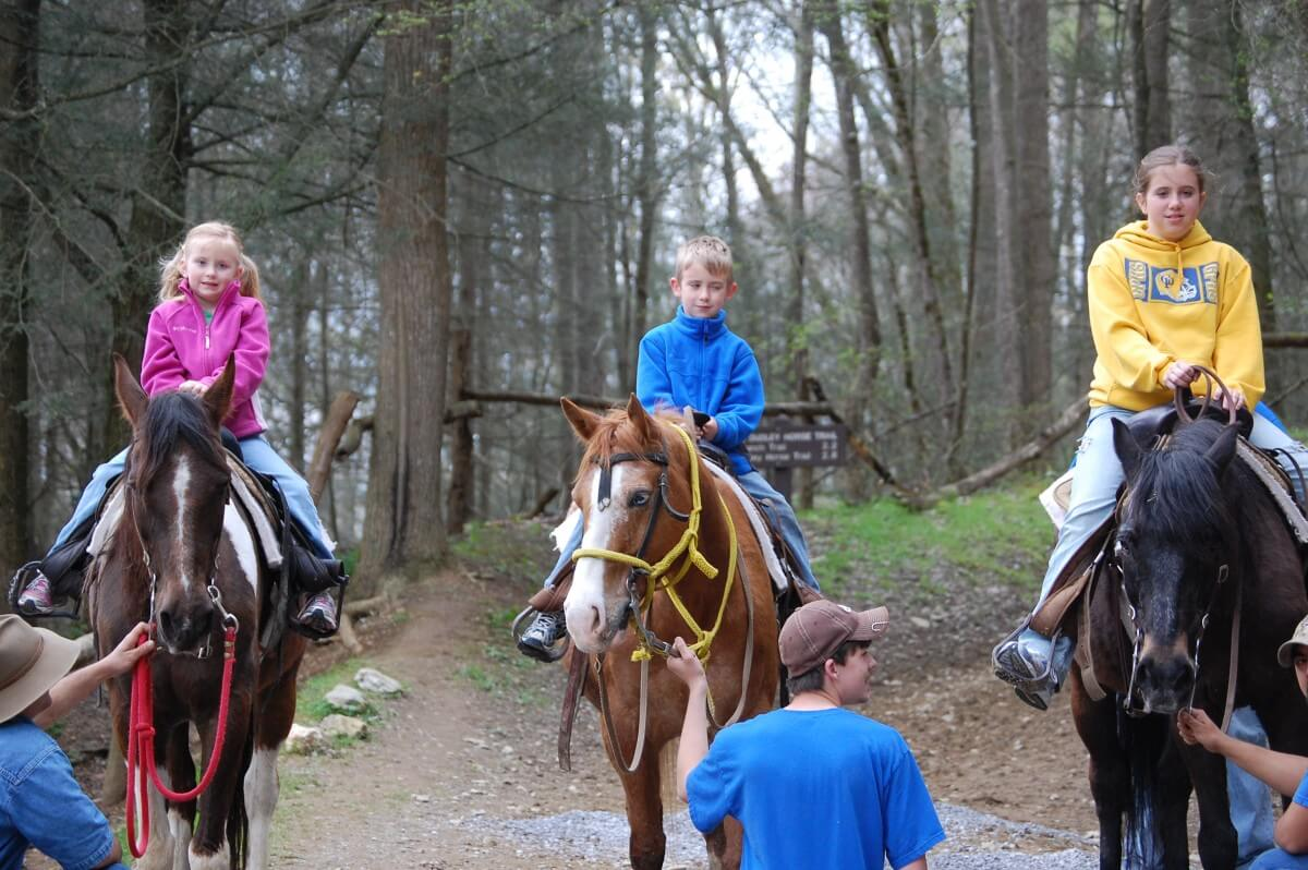 Smoky Mountain Riding Stables Three Riders