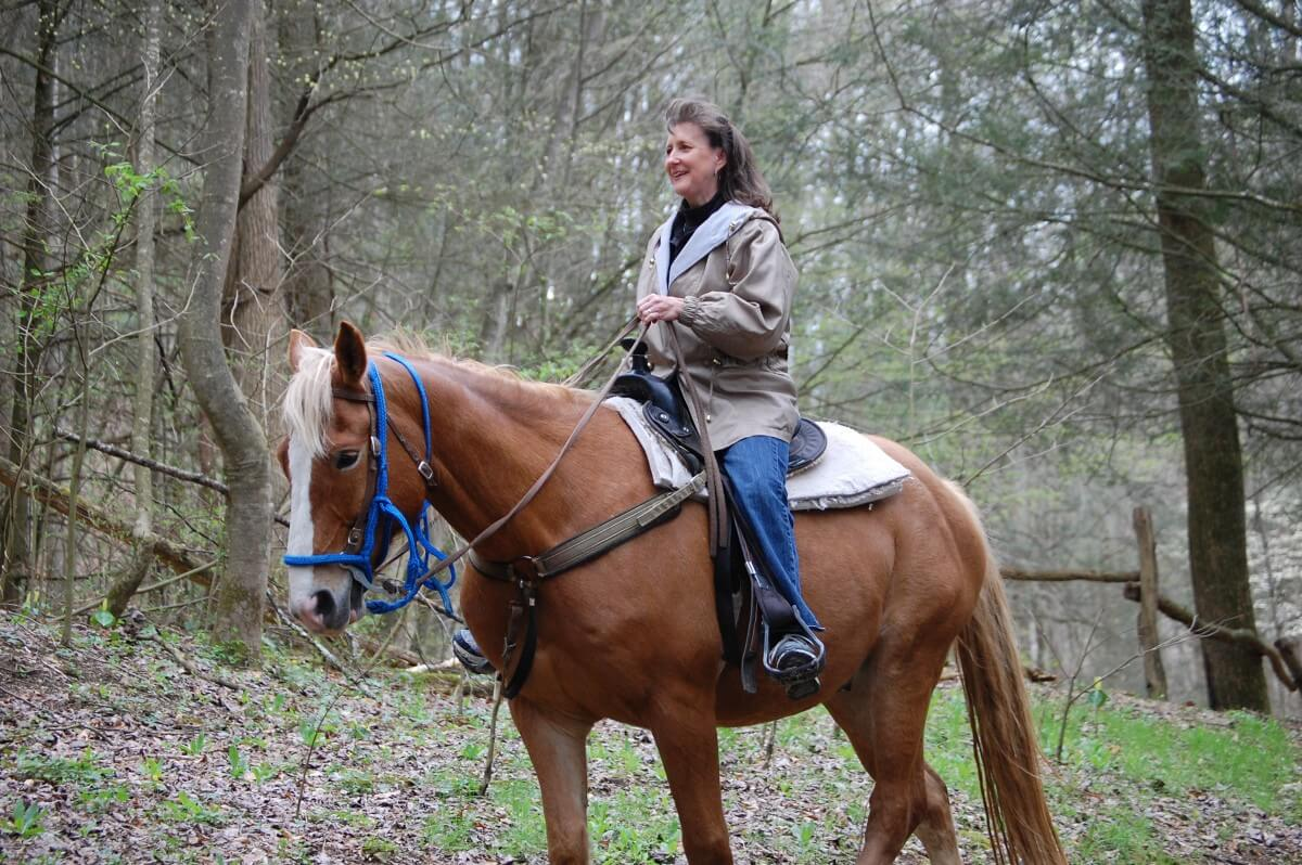 Smoky Mountain Riding Stables Woman Rider