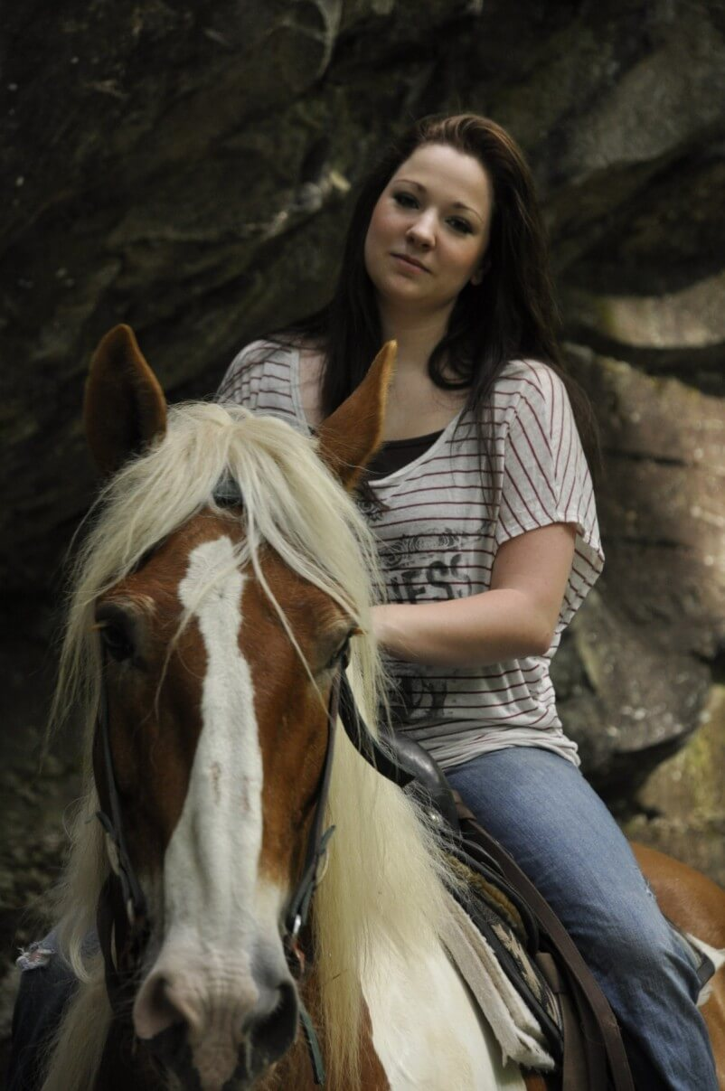 Woman on horseback at the Smoky Mountain Riding Stables