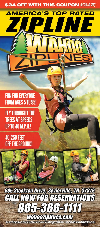 Wahoo Ziplines Brochure Image