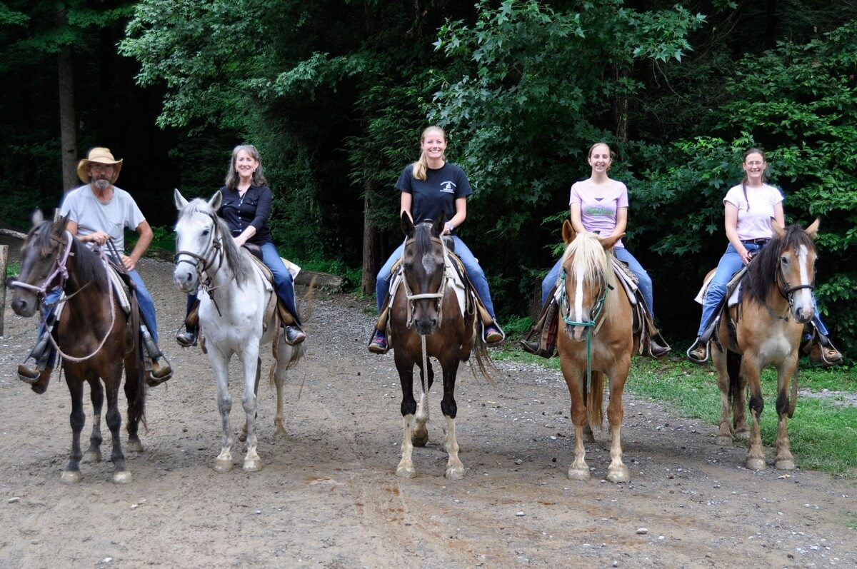 Sugarlands Riding Stables Group of Riders