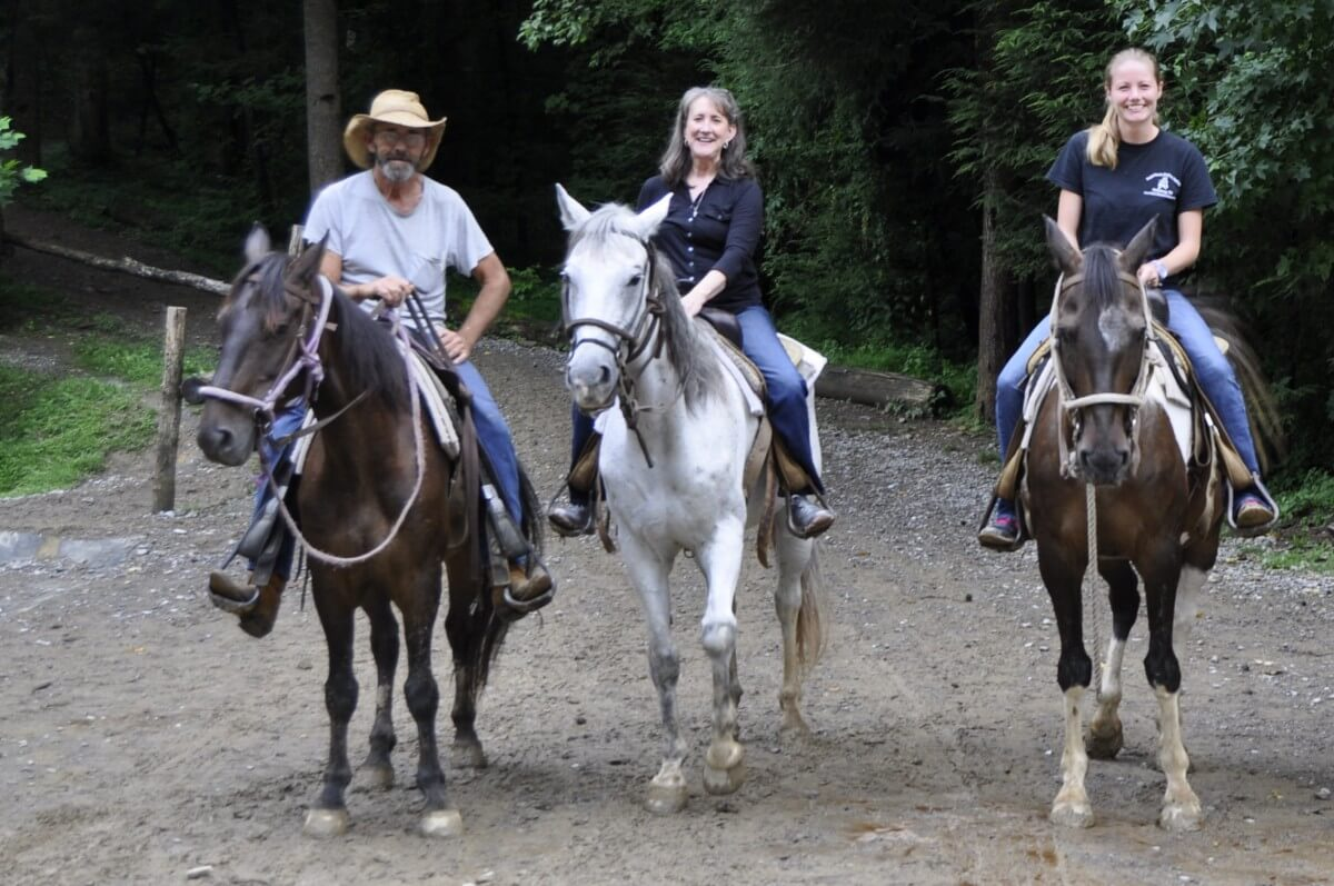 Sugarlands Riding Stables Two Women and Man