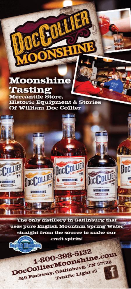 Doc Collier Moonshine Distillery Brochure Image