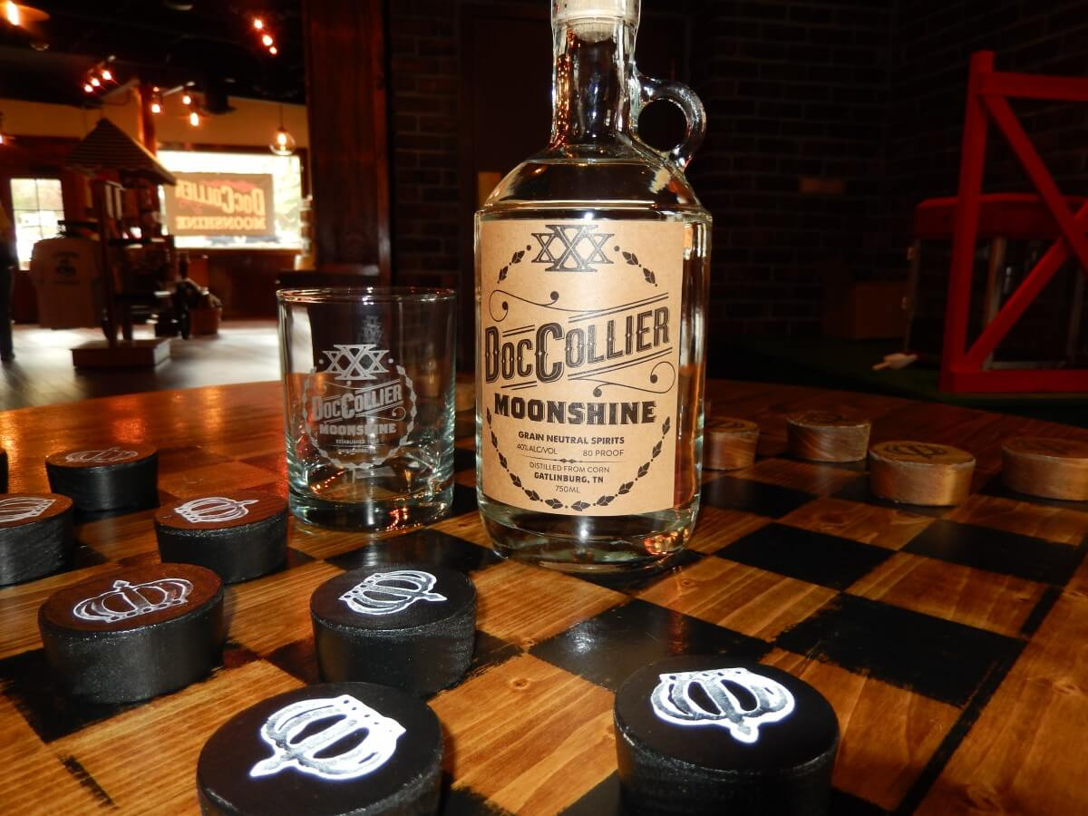 Doc Collier Moonshine on Checker Board