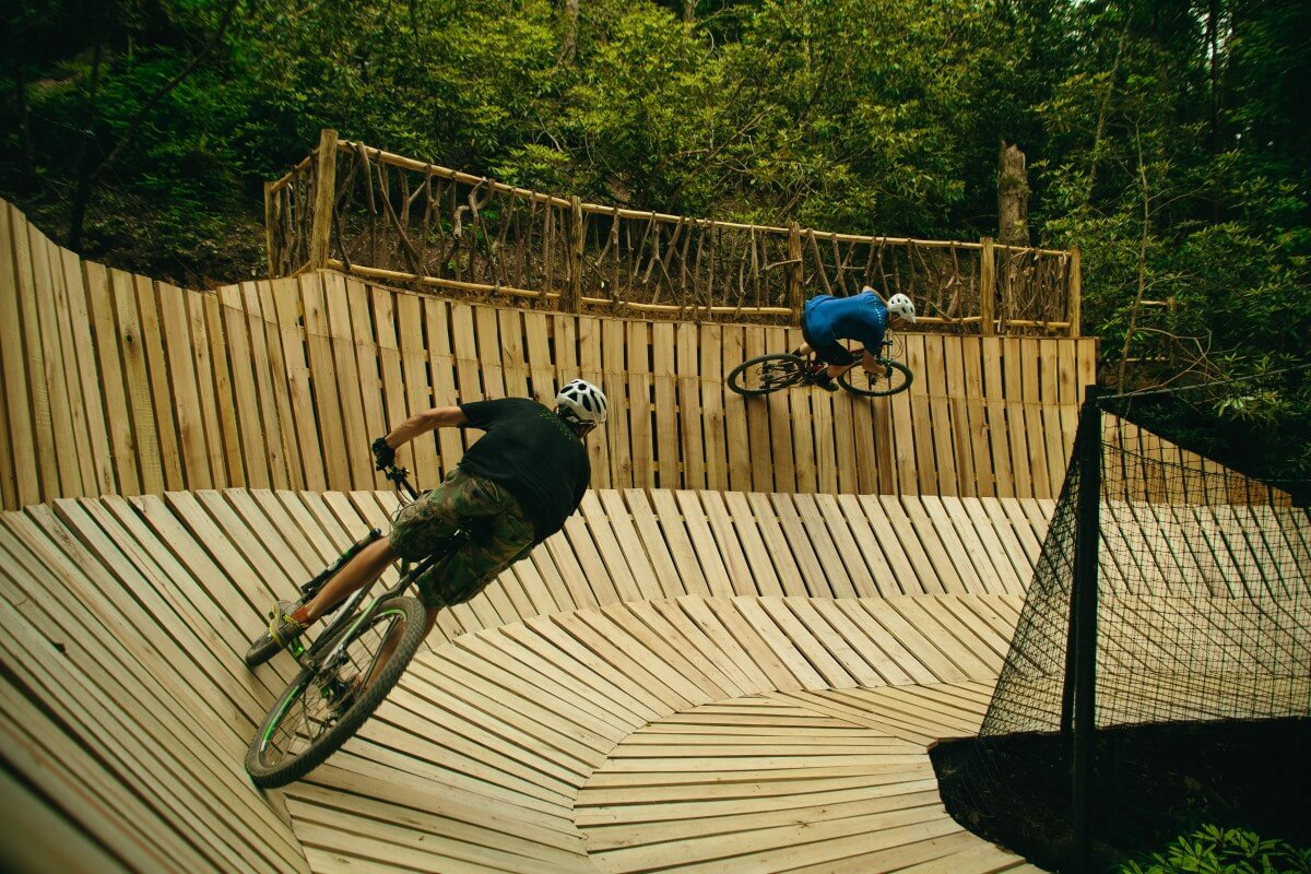 Bikes on course at Climbworks Mountain Bike
