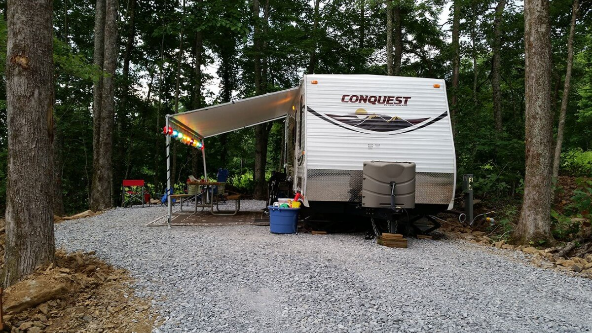 RV Open in Campground Area