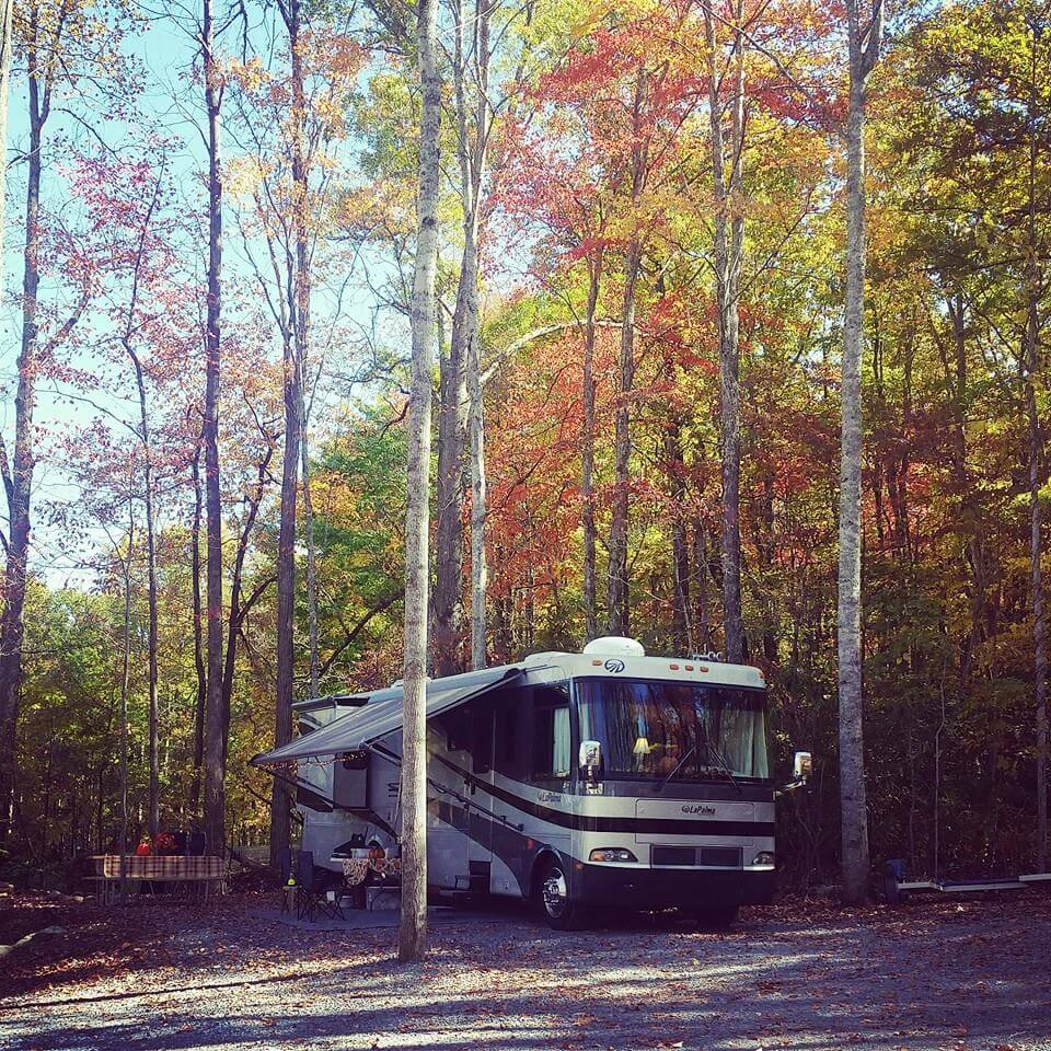Smoky Mountain Premier RV Resort Site 20 in the Fall