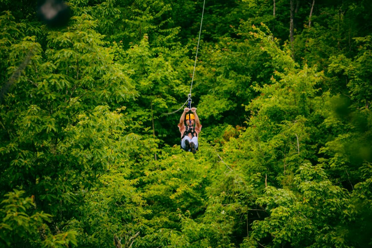 Zip Line Climbworks in Gatlinburg On Zipline