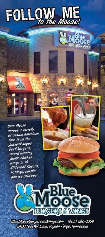 Blue Moose – Burgers & Wings Brochure Image