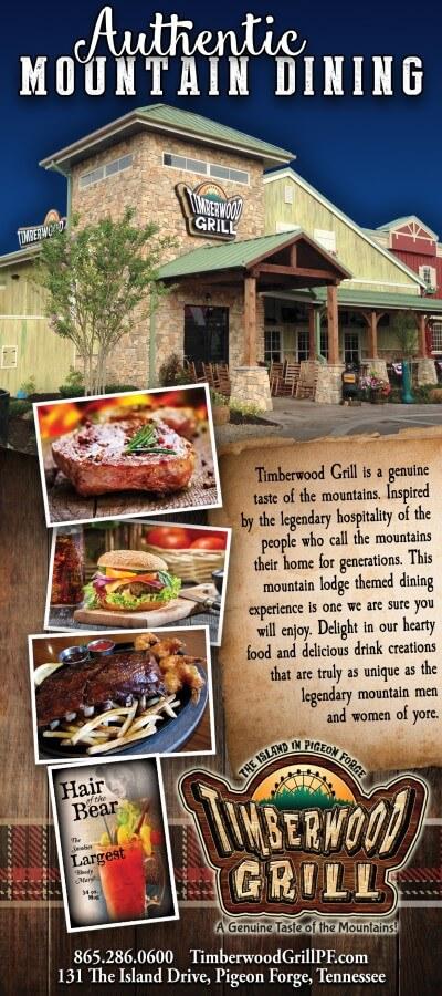 Timberwood Grill Brochure Image