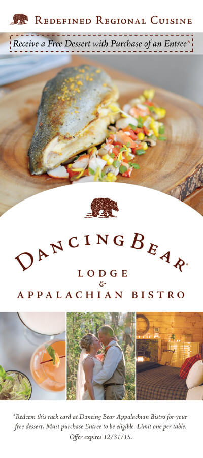 Dancing Bear Lodge & Appalachian Bistro Brochure Image