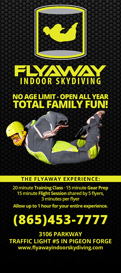 Flyaway Indoor Skydiving Brochure Image