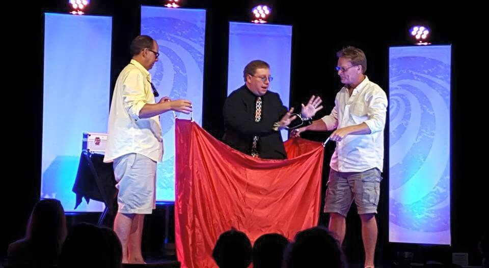 Impossibilities-Magic-Show-3-men-red-drape