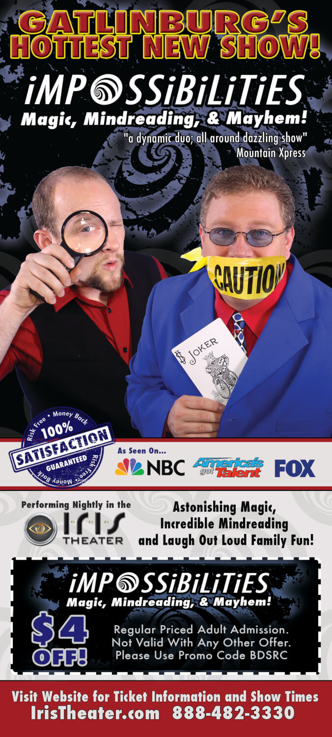 Impossibilities – Magic, Mindreading & Mayhem Brochure Image