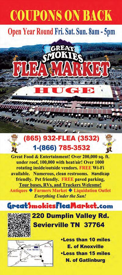 Great Smokies Flea Market Brochure Image