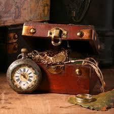Great-Smokies-Flea-Market-Antique-Trunk-Clock