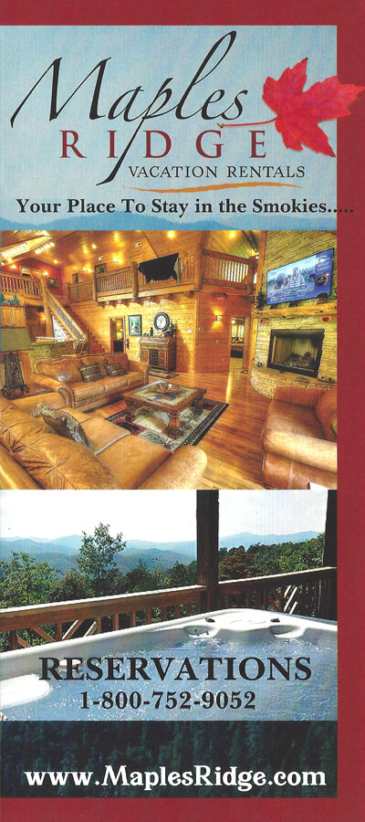 Maples Ridge Vacation Rentals Brochure Image
