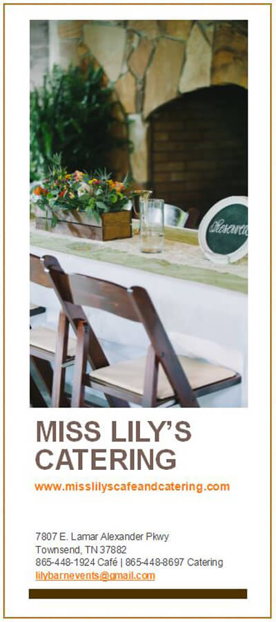 Miss Lily's Catering Brochure Image