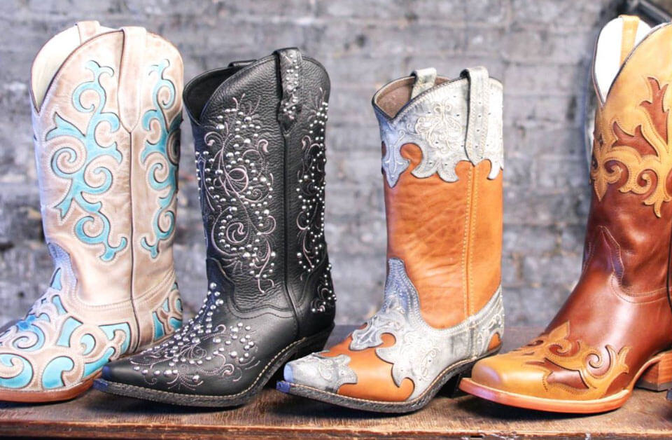 Various Boots from the Boot Factory Outlet in Sevierville, Tennessee