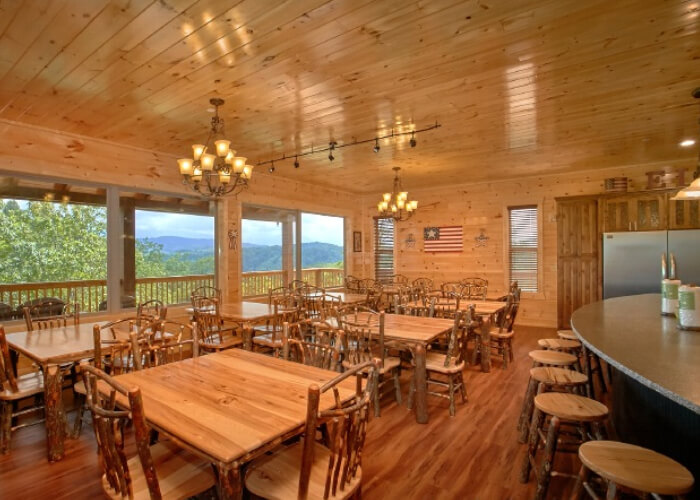 The Big Elk Lodge at Large Cabin Rentals