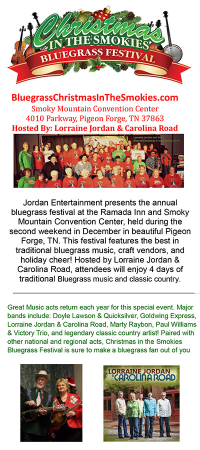Christmas in the Smokies Bluegrass Festival Brochure Image