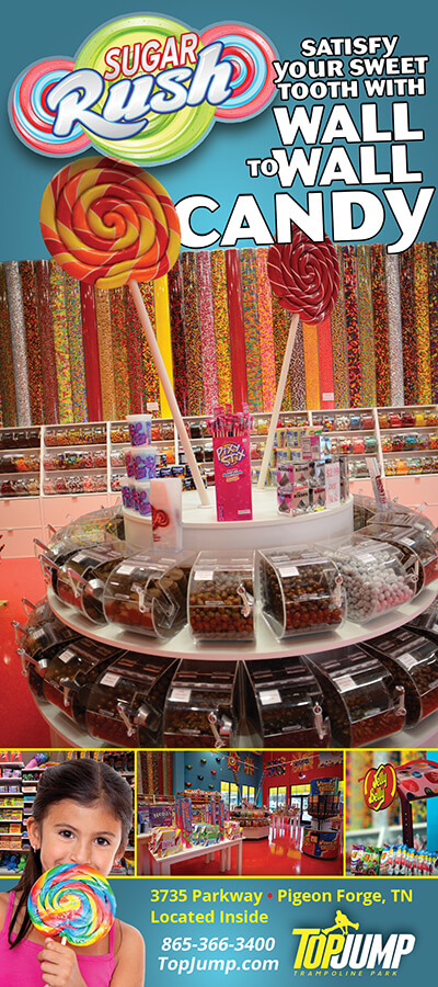 Sugar Rush Candy Store at TopJump Trampoline & Extreme Arena Brochure Image