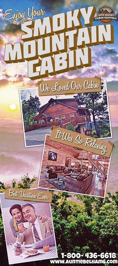Auntie Belham's Cabin Rentals Brochure Image