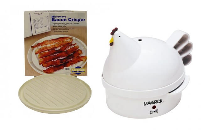 Kitchen Collection at Tanger Outlets in Sevierville - Microwave Bacon Crisper and Henrietta Hen Egg Cooker