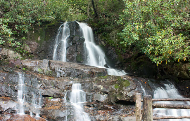 Laurel Falls in the Great Smoky Mountains National Park