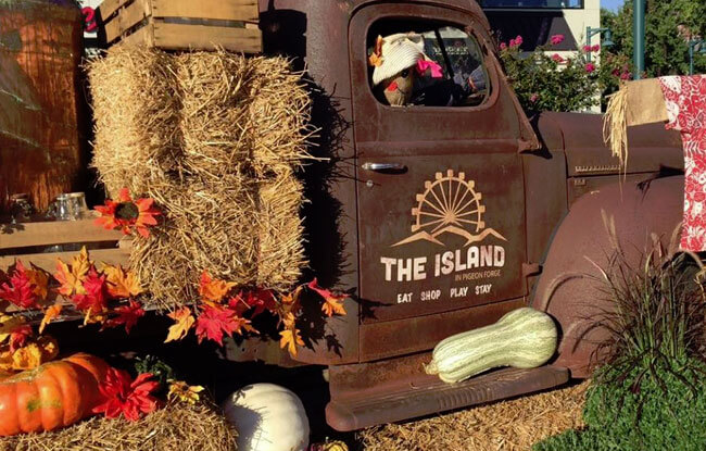 Fall Decor at The Island, Pigeon Forge, TN