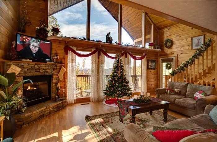Stay in a Decked Out Cabin for Christmas in the Smokies