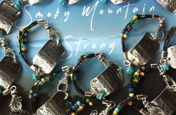 Stainless Steel Smokies Strong Fundraiser Bracelet