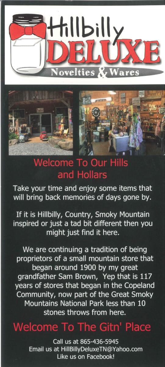 Hillbilly Deluxe Brochure Image