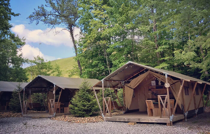 Camp LeConte Luxury Outdoor Resort - Safari Tent - Gatlinburg, TN
