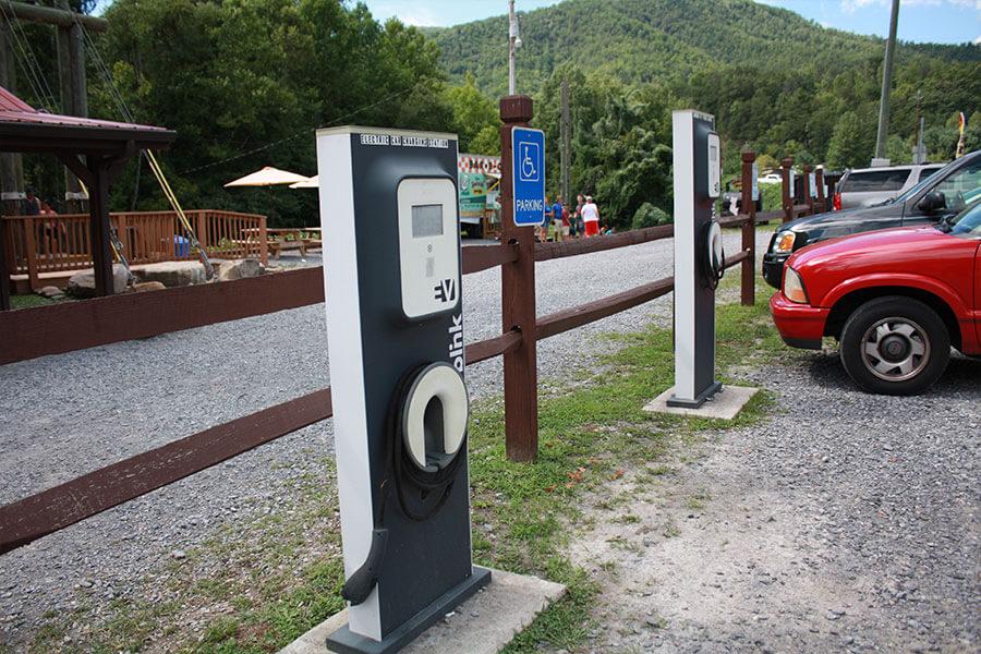 Blink Car Charging Station at RITS