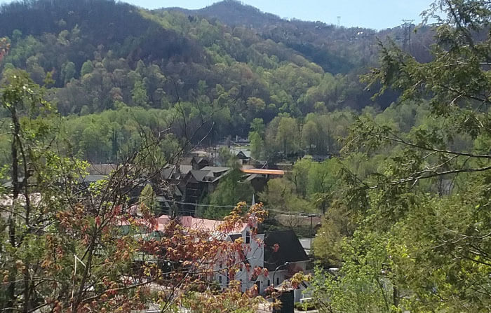 Gatlinburg Through the Trees