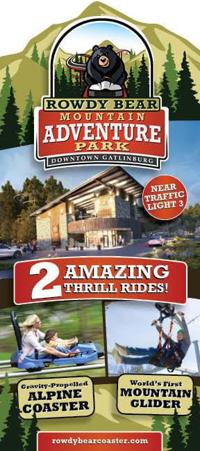 Rowdy Bear Mountain Alpine Coaster Brochure Image