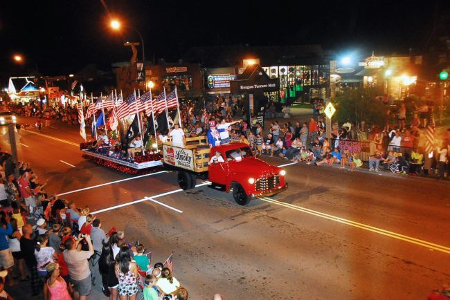 Gatlinburg Fourth of July Midnight Parade