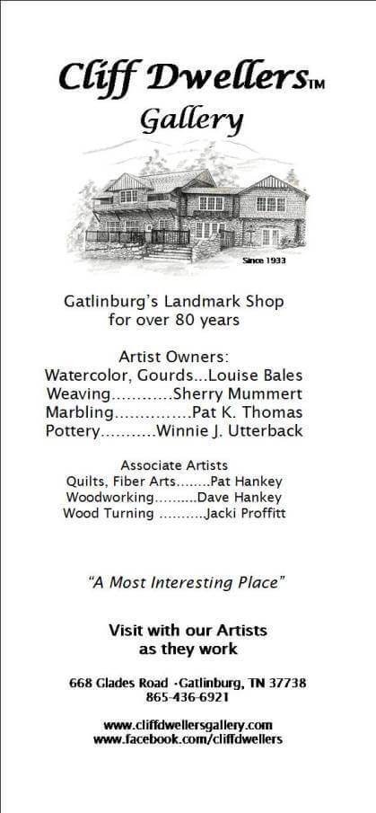 Cliff Dwellers Gallery Brochure Image