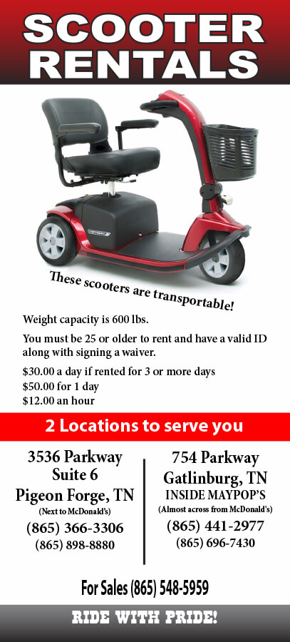 Scooter Rentals and Sales Brochure Image