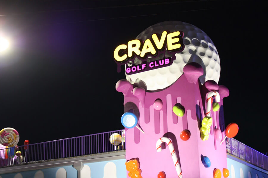 Exterior of Crave Golf Club