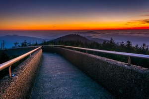 Clingmans Dome Walkway at Sunset