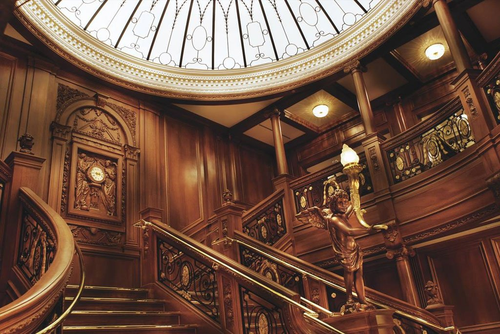 The Grand Staircase at the Titanic Museum