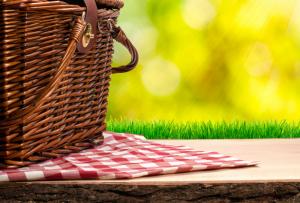 picnic basket in nature