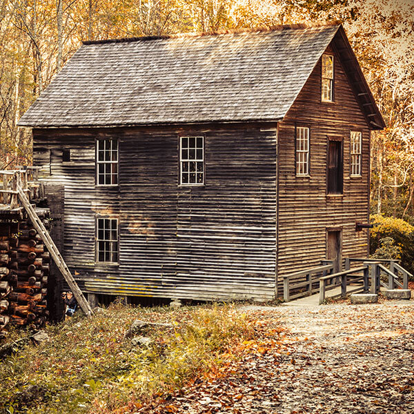 Historic Mingus Mill in Great Smoky Mountains National Park