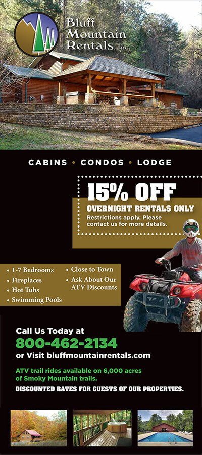 Bluff Mountain Rentals Brochure Image