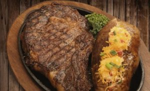 Steak at Alamo's Steakhouse