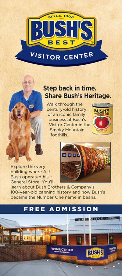 Bush's Visitor Center Brochure Image